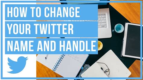 How To Change Your Twitter Display Name And @ Handle - YouTube