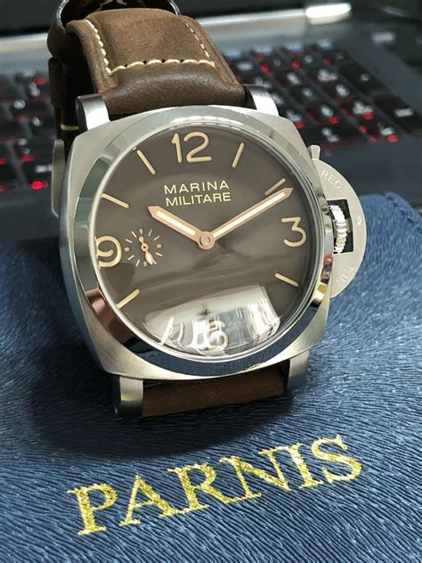 Parnis Marina Militare watch, Luxury, Watches on Carousell