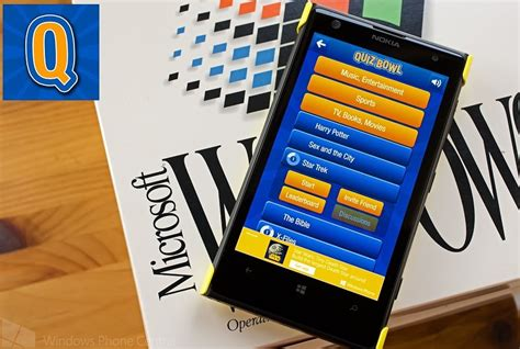 Quiz Bowl, an online trivia game for Windows Phone 8