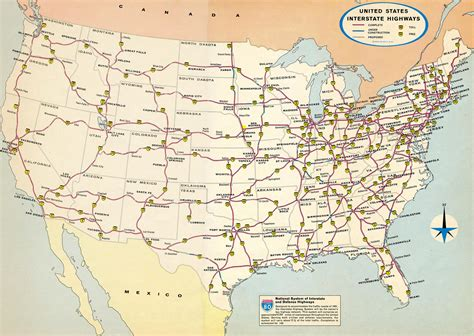 Map of the US interstate system in 1974 [1600x1136] : MapPorn