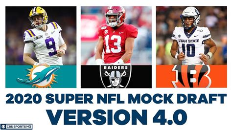 FULL First Round NFL Mock Draft WITH Trades   2020 Super