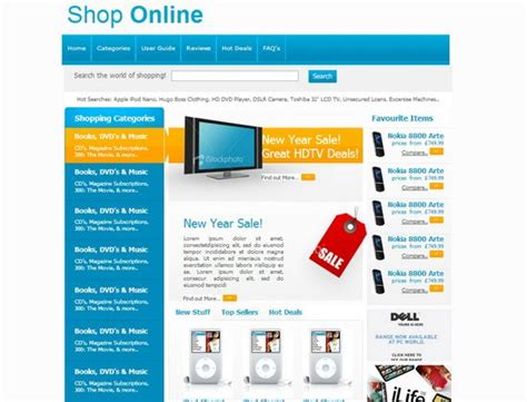 33 Free and Premium HTML/CSS eCommerce Website Templates