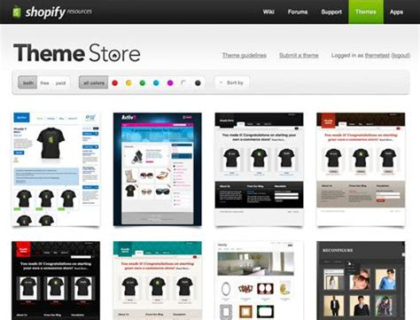 Shopify Theme Store launches