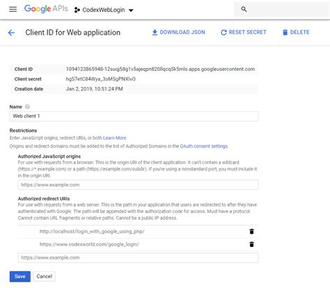 Login with Google Account using PHP - CodexWorld