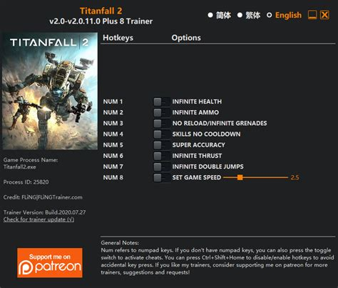 Titanfall 2 Trainer | FLiNG Trainer - PC Game Cheats and Mods