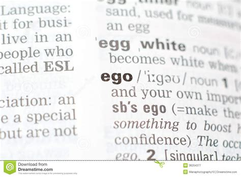 The Definition Of The Word Ego Royalty Free Stock