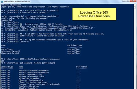 Getting Started with Office 365 PowerShell – Max Trinidad