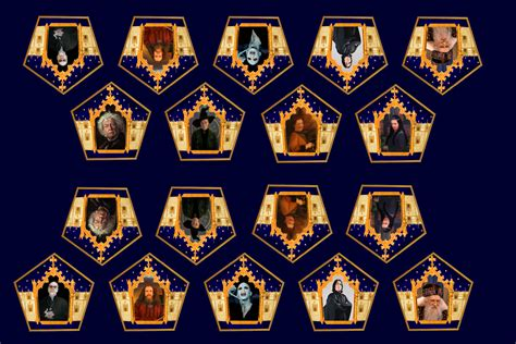 Filch's Office: Chocolate frog cards