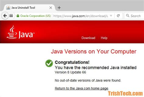 How to Check if Your Copy of Java Runtime Environment is