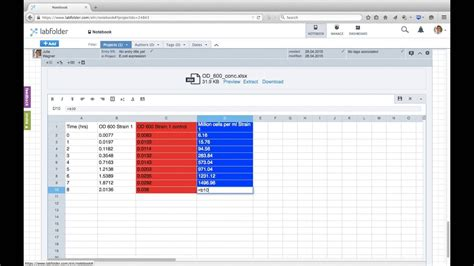 labfolder Word and Excel Integration - YouTube