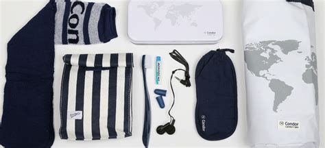 What do you get in the Condor Airlines amenity kits?