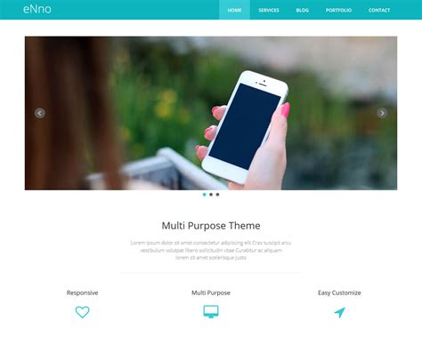 eNno – Free Simple Bootstrap Template   BootstrapTaste