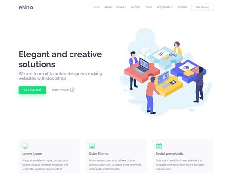 eNno – Free Simple Bootstrap Template   BootstrapMade