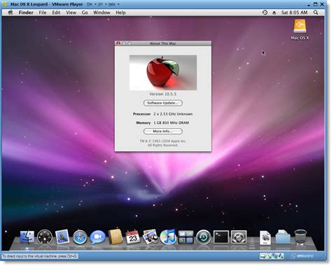 Run Mac OS X on PC, Free and Easy with VMware Player 3