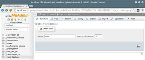 Lesson 2 - First database table and MySQL PHP drivers